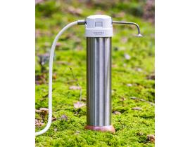 Okato Style W3 countertop filter Solo  Duo  Trio   compact basic and premium protection   with stainless steal housing   optional with Aquadea crystal vortex