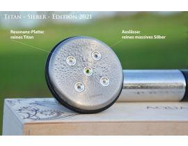 Titan-Silber Edition 2021  grüner Turmalin, Quarz