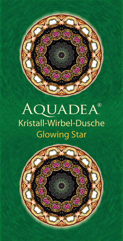 Glowing Star  Aquadea Strandtuch grün