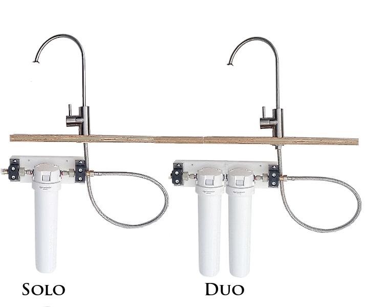 Solo und Duo Untertischfilter
