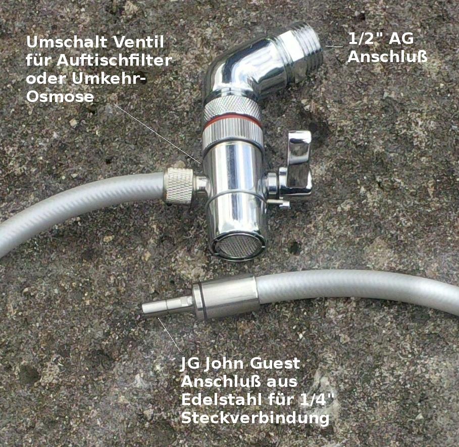 JG Umschaltventil Steckverbinder Küchenbrause ausziehbar